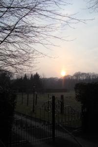Sonnenuntergang über Hüthum
