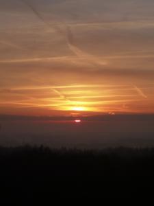 Sonnenaufgang vom Aussichtsturm