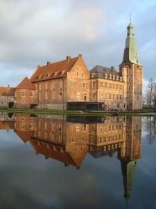 Schloss Raesfeld in der Abendsonne