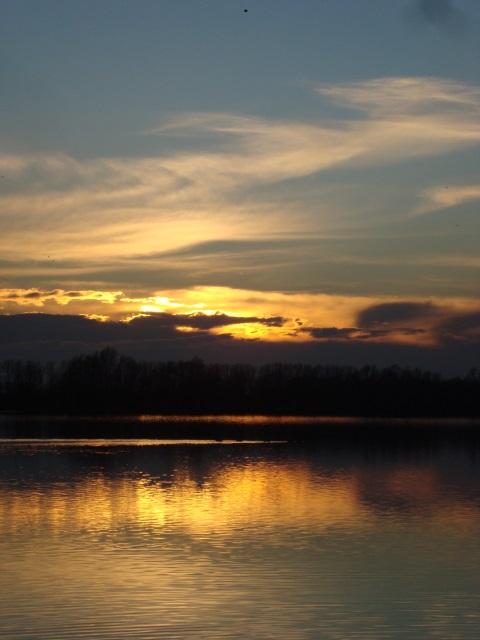 Sonnenuntergang am Reeser Meer