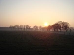 Sonnenaufgang über Brünen
