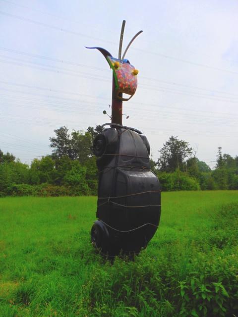 Käfer am Marterpfahl