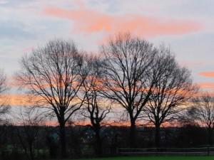 Sonnenaufgang in Merhoog