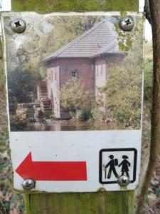 Wanderzeichen Mühlenroute