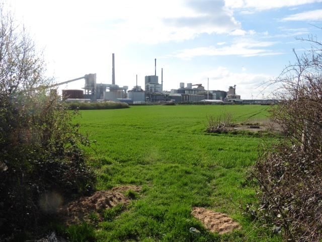 Die Solvay-Werke in Rheinberg
