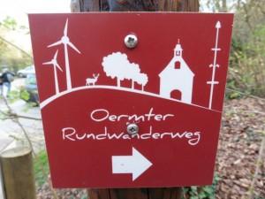 Wegezeichen des Oermter Rundwanderweges