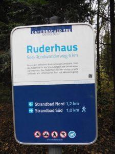 Diesen Wanderschildern musste der A3 am Unterbacher See weichen.