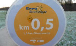 Auf der gelben Fitnessroute