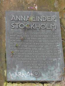 Anna Linder in Bredeney