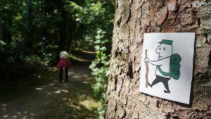 Das Wanderzeichen erinnert ein wenig an das HB-Männchen.