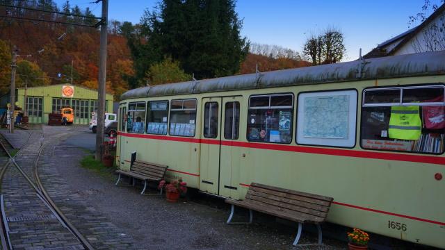 Die Museumsbahn am Ziel