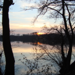 Sonnenuntergang an den Krickenbecker Seen